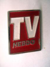 PINS RARE TV TELEVISION HEBDO