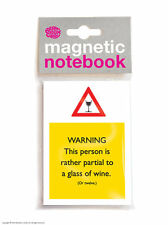Brainbox Candy Partial To Wine magnetic notebook/pad funny cheap present gift