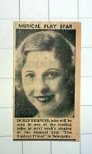1939 Doris Francis Leading Role Musical Play Student Prince Newcastle