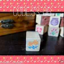 Floral Stamp/Floral Wooden Stamp/Wood Mounted Rubber Stamp [Code: SS-06]