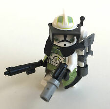 Lego Star Wars Custom Horn Clone Trooper Captain + Top Custom Equipment
