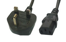 10M  IEC C13 Mains Power Cable UK 3 Pin Plug 5A Fused