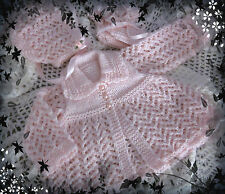 "PATTERN (#16) Pretty matinee set for small newborn baby or 18"" REBORN"