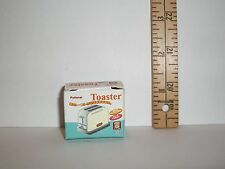 MINIATURE RE-MENT EMPTY TOASTER BOX FOR DOLLS 1/6 SCALE LITTLES RETIRED