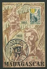 Madagascar MK 1952 MEDAGLIA VAM Orden Maximum cartolina MAXIMUM CARD MC cm d3219