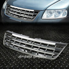 FOR 03-07 VW TOUAREG CHROME ABS FRONT BUMPER FRAME BADGELESS GRILL/GRILLE COVER