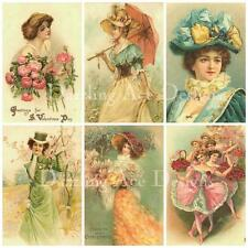 Vintage victorian set 3 toppers atc journal/topper/carte/scrap page/altered art