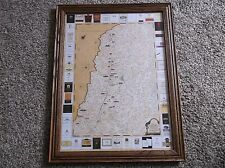 "2012 Nappa Valley Map ""Vintage Expedition Wineries of the Napa Valley"" Framed"