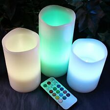 US Electric Flameless Led Candle Tealight Remote Control  Wedding Party Set of 3