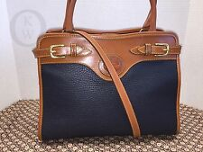 ~Vintage Dooney & Bourke~AWL~R259*Satchel*Navy Blue*Purse Shoulder Bag 16290D