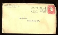 US Farm Related Advertising Stationary Cover (Sleighs) 1905 Jackson, Mich