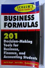 #JK8, S Hartman J Shim J Siegel SCHAUM'S QUICK GUIDE BUSINESS FORMULAS: 201