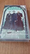 MATRIX RELOADED - KEANU REEVES, LAURENCE FISHBOURNE  - VHS VIDEO