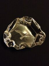Little Gallery Hallmark Full Lead Austria Crystal Ice Cameo Seagull paperweight
