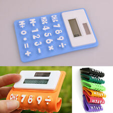 Solar Powered Large Soft Silicone Rubber Flexible Calculator Easy Read Numbers