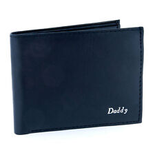 Personalised Mens Black Leather Cash Credit Card Wallet Embossed in Gold/Silver