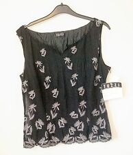 Black Sleeveless Top Size 10/12 from Tuzzi NEW