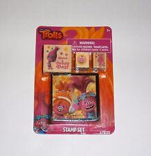 Dreamworks Trolls Movie Pink Poppy Ink Stamp Set Stationary Kit