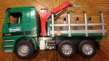 BRUDER ACTROS LOGGING TRUCK 1:16 germany toy vehicle log timber loading mercedes