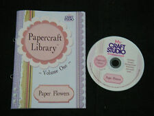 My Craft Studio Prof CD Papercraft Library VOL 1  PAPER FLOWERS + BOOK 1000+ im