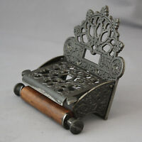Gothic Style Antique Iron Toilet Roll Holder