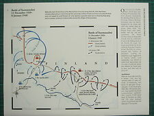 WW2 WWII MAP ~ BATTLE OF SUOMUSSALMI 11 DECEMBER 1939 - 8 JANUARY 1940 FINLAND
