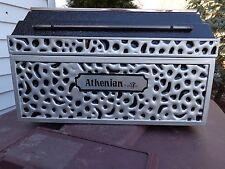 """Vintage Doric """"Athenian"""" Miniature Mortuary Funeral Grave Casket Burial Vault"""