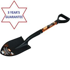 "28"" Pointed Shovel Fibreglass Handle Round Point D Shape Head Garden Digging"