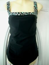 IT FIGURES! BLACK ONE PIECE SWIMSUIT NWT D CUP+ 20W