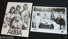 ABBA 'GREATEST HITS' RARE 1976 PRESS KIT--PHOTO