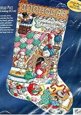 GINGERBREAD MICE Counted Cross Stitch Christmas Stocking Kit BUCILLA 1998 Orton