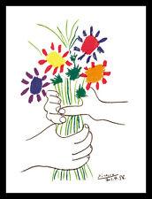 Pablo Picasso Bouquet Poster Kunstdruck Bild mit Alu Rahmen in schwarz 80x60cm