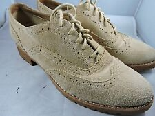 Womens Sperry Top Sider Ashbury Oxford Sand Suede Leather Shoes Size 9 M