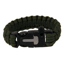 Camping Emergency Paracord Parachute Cord Survival Bracelet Whistle Buckle