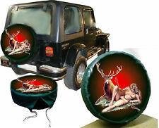 Diana Göttin d Jagd Hirsch Wild Jeep  Reserveradabdeckung Bezug maßgeschneidert