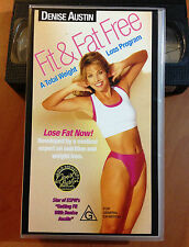 DENISE AUSTIN - FIT & FAT FREE - A TOTAL WEIGHT LOSS PROGRAM - VHS
