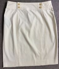 RALPH LAUREN CREAM A LINE SKIRT WITH BUTTONS ON FRONT BOTH SIDES - SIZE 2
