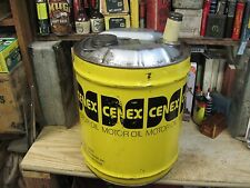 CENEX MOTOR OIL 5 US GALLON GAS CAN TIN FILLING STATION OLD FARM petroleum