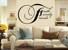 FAITH-FAMILY-FRIENDS- Wall Decal-Great for walls of your home and as gifts.