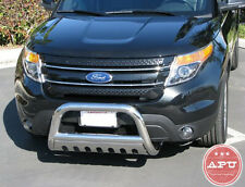 APU 2011-2017 Ford Explorer Stainless Bull Bar Grille Bumper Brush Guards