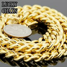"""STAINLESS STEEL MIAMI CUBAN LINK GOLD CHAIN/NEVER FADE 38""""x 10mm/194g/Y24"""