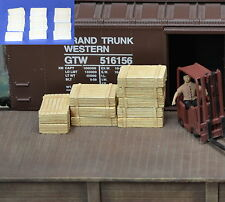 #H042 HO Plaster Wood Crates 12pcs HOn3 Produits MP diorama Caisse de bois