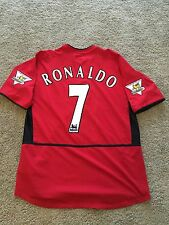 MANCHESTER UNITED HOME SHIRT 2003/04 ADULTS LARGE (L) RONALDO 7 VINTAGE NIKE