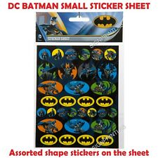 BATMAN SMALL STICKER SHEET - PARTY FAVOURS-BAG FILLERS- BIRTHDAY CARD DECORATION