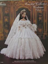 Paradise Crochet Collector Costume Fashion Doll Pattern Queen Victoria Bride #43