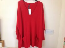 New red tunic jumper UK size 30/32
