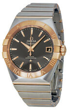 MODEL 123.20.38.21.06.002  NEW OMEGA CONSTELLATION MENS 38MM GOLD & STEEL WATCH