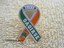 Ireland Freedom Ribbon Pin Irish Republican Tri/Color Erie/Saoirse Badge New