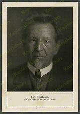 Hugo Erfurth Porträt Schriftsteller Carl Hauptmann Dresden Literatur Drama 1918