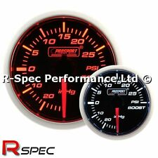 Prosport 52mm Super Amber / White Turbo Boost Gauge PSI - Stepper Motor Version